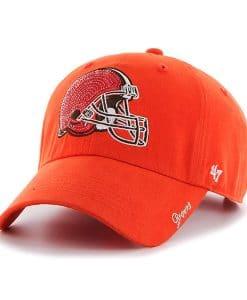 Cleveland Browns Women's 47 Brand Orange Sparkle Clean Up Hat