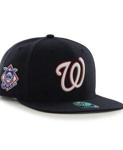 Washington Nationals Sure Shot Navy 47 Brand Snap Back Hat