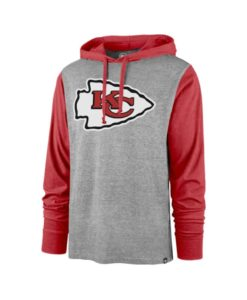 Kansas City Chiefs Men's 47 Brand Slate Gray Club Pullover Hoodie