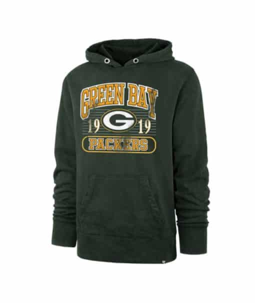 Green Bay Packers Men's 47 Brand Dark Green Franconia Pullover Hoodie