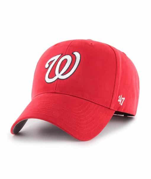 Washington Nationals 47 Brand Home Red Basic MVP Adjustable Hat