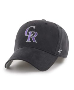 Colorado Rockies INFANT 47 Brand Black MVP Stretch Fit Hat