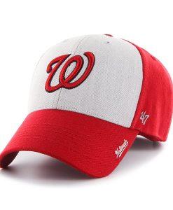 Washington Nationals 47 Brand Red Beta MVP Adjustable Hat