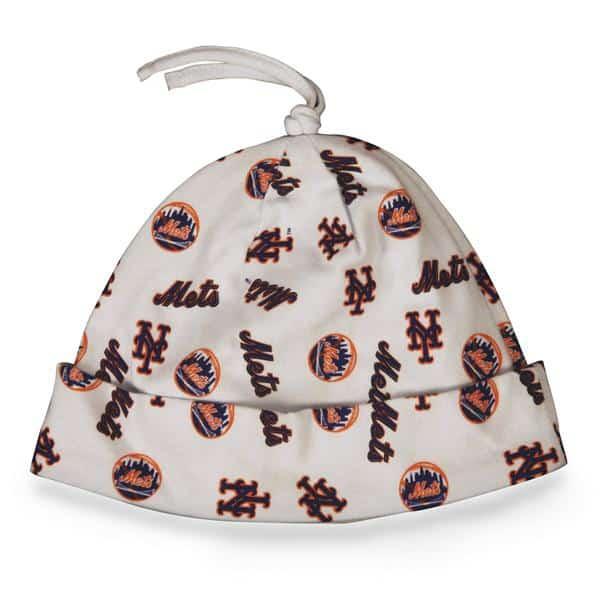 New York Mets Baby Beanie White 47 Brand INFANT Hat