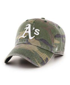 Oakland Athletics 47 Brand Green Camo Clean Up Adjustable Hat