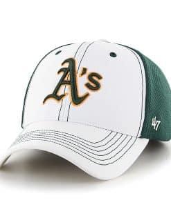 Oakland Athletics Cooler MVP White 47 Brand Adjustable Hat