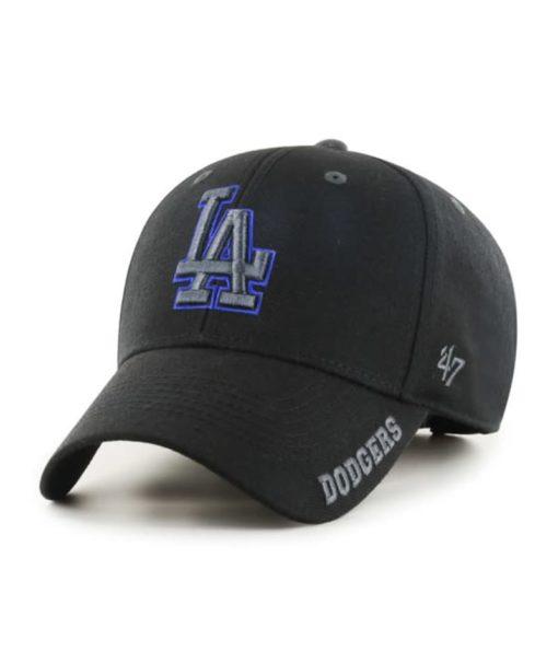 Los Angeles Dodgers 47 Brand Black Defrost MVP Adjustable Hat