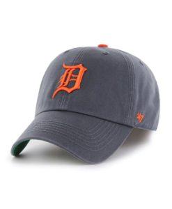 Detroit Tigers 47 Brand Vintage Navy Road Franchise Fitted Hat