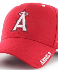Los Angeles Angels YOUTH 47 Brand Red Frost MVP Adjustable Hat