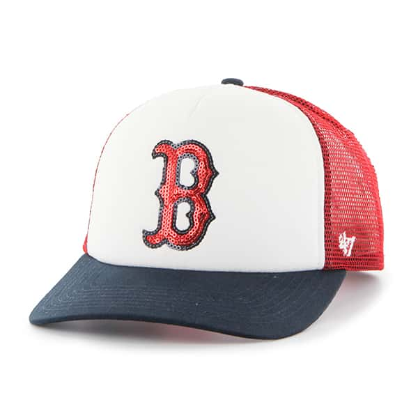 Boston Red Sox Women's 47 Brand Glimmer Captain Red Adjustable Hat