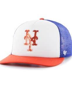 New York Mets Women's 47 Brand Blue Glimmer Captain Adjustable Hat