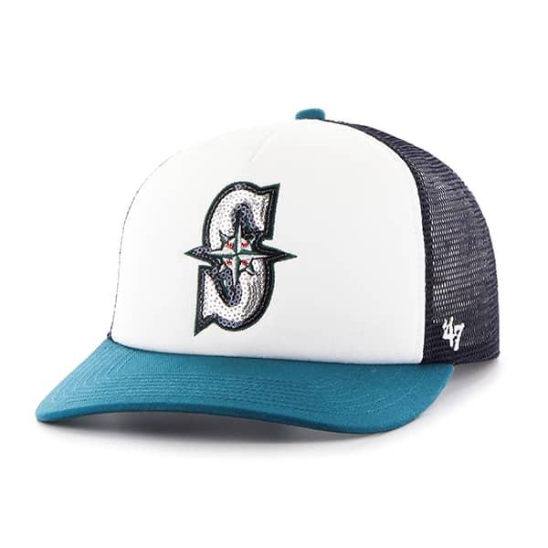 Seattle Mariners Women's 47 Brand Navy Glimmer Captain Adjustable Hat