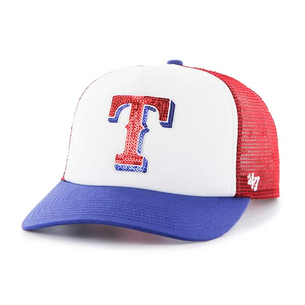 Texas Rangers Women's 47 Brand Red Glimmer Captain Adjustable Hat