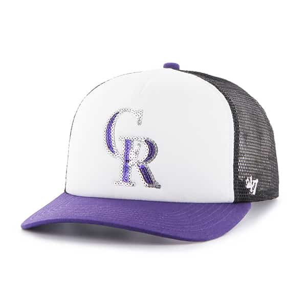 Colorado Rockies Women's 47 Brand Black Glimmer Captain Adjustable Hat