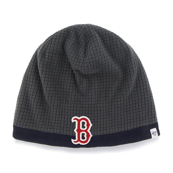 Boston Red Sox Grid Fleece Beanie Charcoal 47 Brand YOUTH Hat