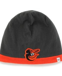 Baltimore Orioles Grid Fleece Beanie Charcoal 47 Brand YOUTH Hat