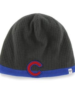 Chicago Cubs 47 Brand YOUTH Grid Fleece Beanie Hat