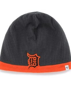 Detroit Tigers Grid Fleece Beanie Charcoal 47 Brand YOUTH Hat