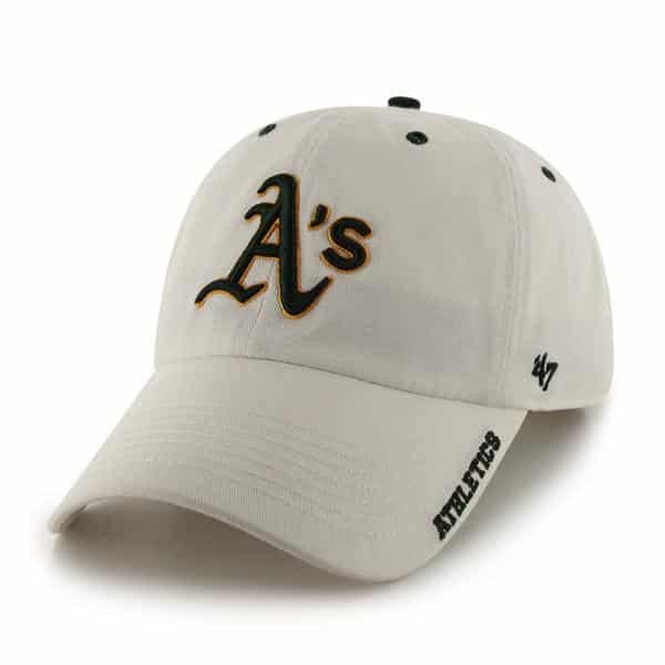 Oakland Athletics 47 Brand White Ice Clean Up Adjustable Hat