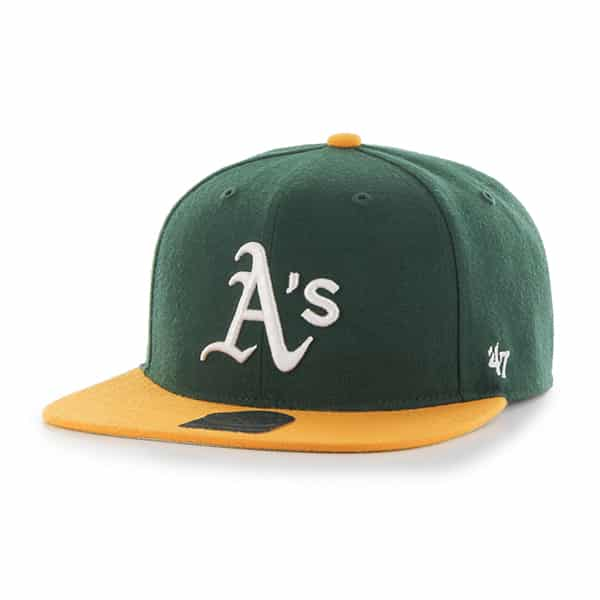 Oakland Athletics Lil Shot Two Tone Captain Dark Green 47 Brand YOUTH Hat