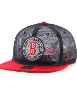 Boston Red Sox 47 Brand Navy Mesh Head Captain Rl Adjustable Hat