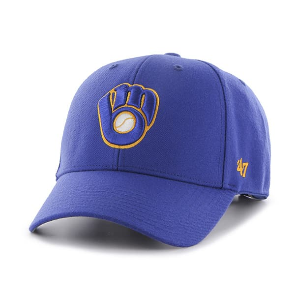 Milwaukee Brewers 47 Brand Blue MVP Alternate Adjustable Hat