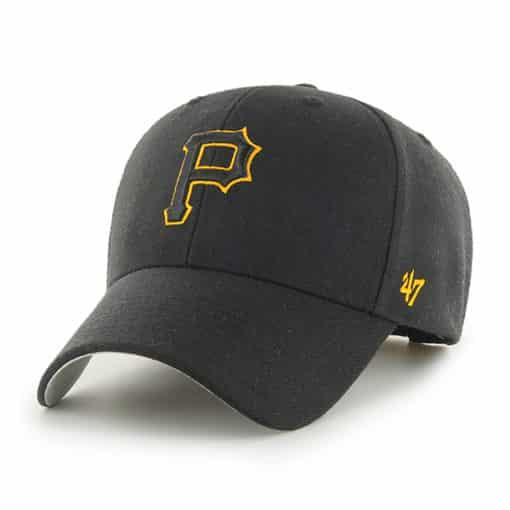 Pittsburgh Pirates 47 Brand MVP Black Adjustable Hat
