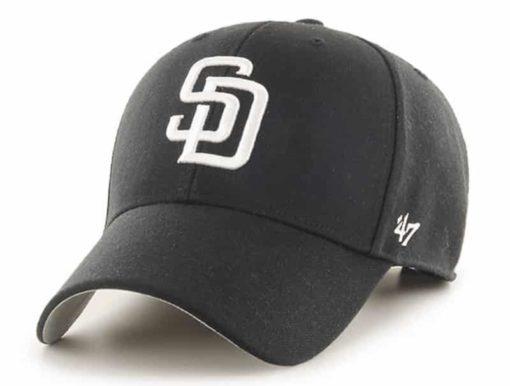 San Diego Padres 47 Brand Black White MVP Adjustable Hat