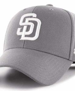 San Diego Padres 47 Brand Dark Gray MVP Adjustable Hat