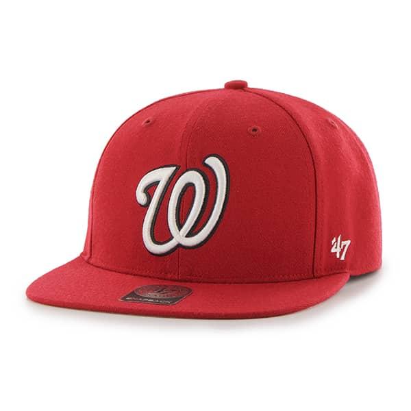 Washington Nationals YOUTH 47 Brand Red No Shot Snapback Hat