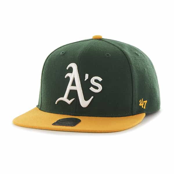Oakland Athletics No Shot Two Tone Captain Dark Green 47 Brand YOUTH Hat