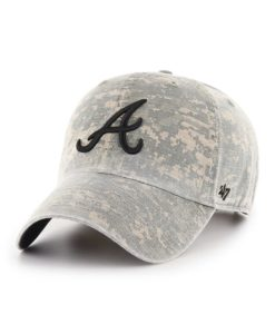 Atlanta Braves 47 Brand Digital Camo Clean Up Adjustable Hat