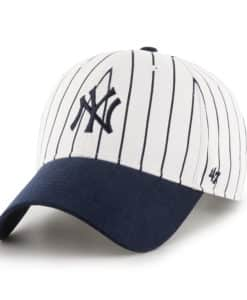 New York Yankees INFANT 47 Brand Pinstripe White Stretch Fit Hat
