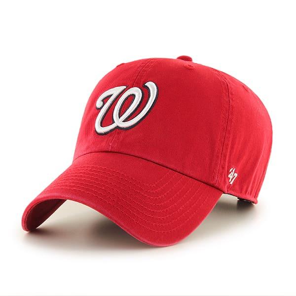 Washington Nationals Rebound Clean Up Red 47 Brand Adjustable Hat