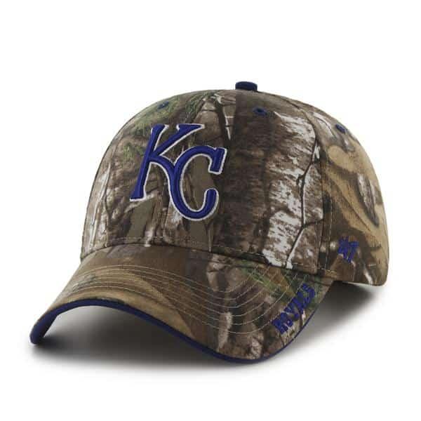 Kansas City Royals 47 Brand Camo Realtree Frost Adjustable Hat