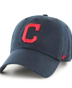 Cleveland Indians 47 Brand Navy Road Clean Up Adjustable Hat