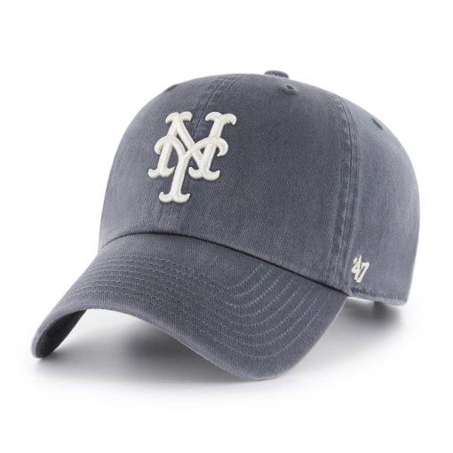 New York Mets 47 Brand Vintage Navy Clean Up Adjustable Hat