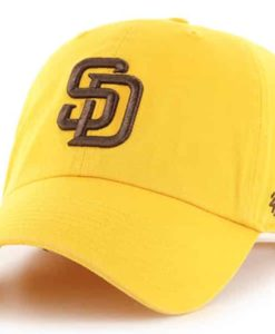 San Diego Padres 47 Brand Yellow Gold Clean Up Adjustable Hat