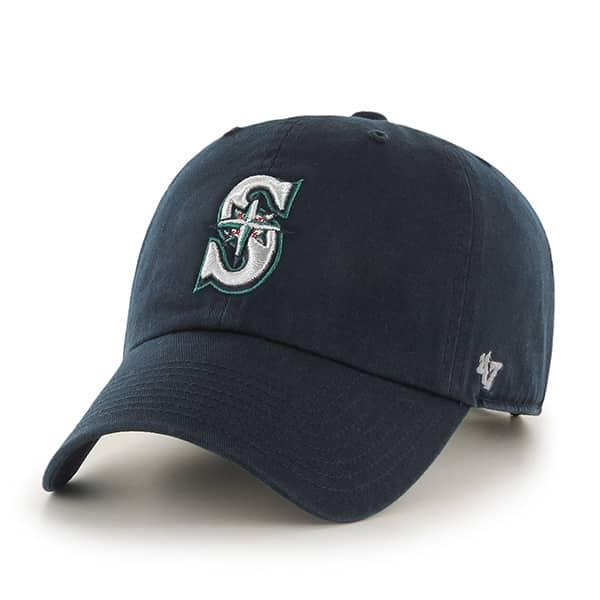 Seattle Mariners KIDS 47 Brand Navy Clean Up Adjustable Hat