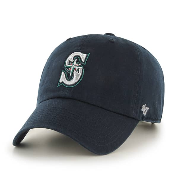 Seattle Mariners Women's 47 Brand Navy Clean Up Adjustable Hat