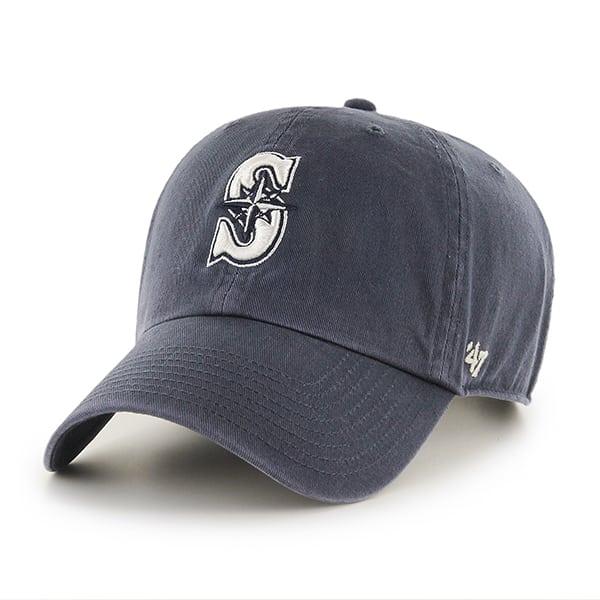 Seattle Mariners Clean Up Vintage Navy 47 Brand Adjustable Hat