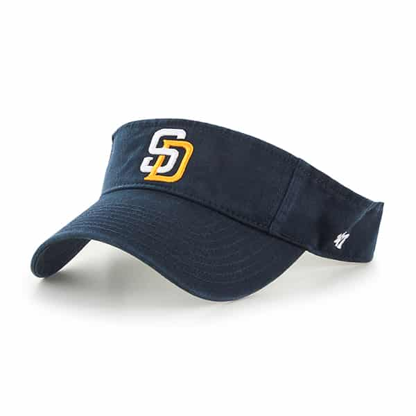 San Diego Padres Clean Up Visor Navy 47 Brand Adjustable Hat