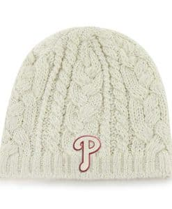 Philadelphia Phillies Shawnee Knit Natural 47 Brand Womens Hat