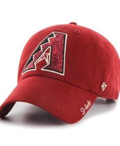 Arizona Diamondbacks Sparkle Team Color Clean Up Razor Red 47 Brand Womens Hat