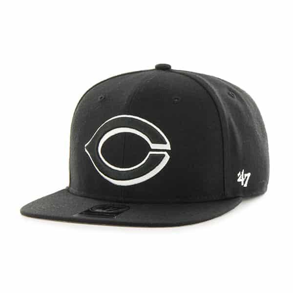 Cincinnati Reds Sure Shot Black 47 Brand Adjustable Hat