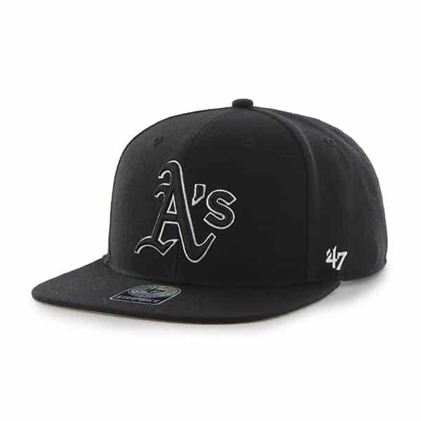 Oakland Athletics Sure Shot Black 47 Brand Adjustable Hat