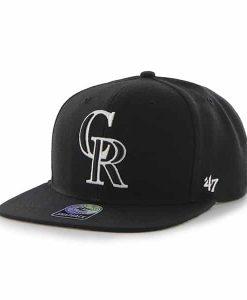 Colorado Rockies Sure Shot Black 47 Brand Adjustable Hat