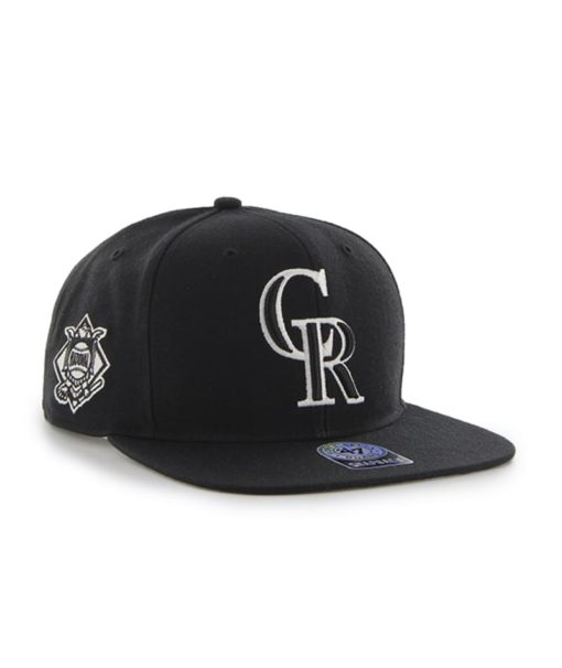 Colorado Rockies 47 Brand Black Sure Shot Snapback Adjustable Hat