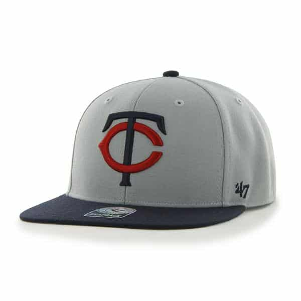 Minnesota Twins Sure Shot Two Tone Captain Gray 47 Brand Adjustable Hat