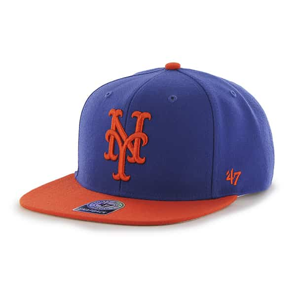 New York Mets Sure Shot Two Tone Captain Royal 47 Brand Adjustable Hat